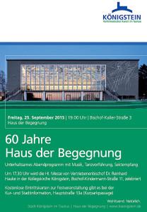 Plakat 60 Jahre HdB